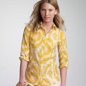 J crew cotton-silk ikat perfect shirt 8